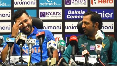 Rohit Sharma Funny Press Conference: Indian Cricketer's Witty Reply to Pakistani Journalist for 'Struggling' Pakistan Team Leaves Others in Splits, Watch Video